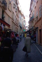 A narrow street in Monaco. Image
