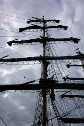 A mast of the sailing ship ALEXANDER VON HUMBOLDT. Image