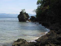 A coastal scene on Pandan Island Image