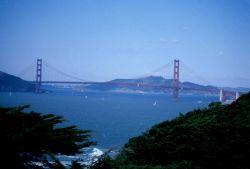 The Golden Gate Bridge marking the entrance to the San Francisco Bay estuary, one of the world's great estuaries. Photo