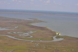Aerial survey of Devil's Island, South Rigolets and Grand Battures. Image