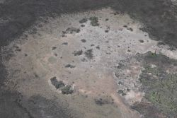 Aerial survey of a salt panne to the West of Bayou Cumbest. Image