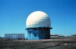 NSSL's first Doppler Weather Radar located in Norman, Oklahoma Photo