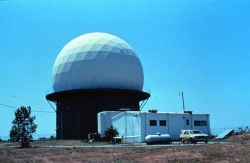 NSSL's second Doppler Weather Radar, 15 miles west of Oklahoma City Photo