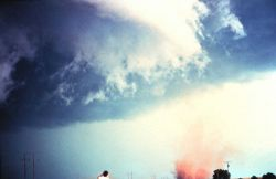 An anti-cyclonic circulation was observed in this tornado. Image