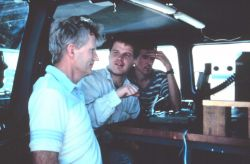 Bob Davies-Jones, Jerry Straka, and Rasmussen on Project Vortex. Photo