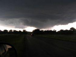 VORTEX2 intercepts a tornado in SE Wyoming on June 5, 2009. Photo