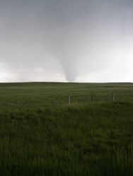 VORTEX2 intercepts a tornado in SE Wyoming on June 5, 2009. Photo