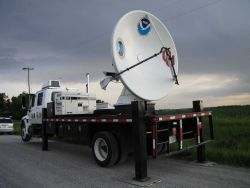 NOAA/NSSL X-Pol Mobile radar uses a 3cm wavelength to detect smaller particles including cloud droplets Photo