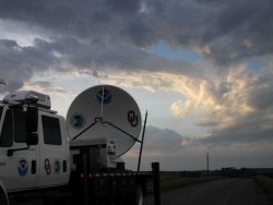 NOAA/NSSL X-Pol Mobile radar after the storm has passed over Photo
