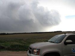 Nebraska storms looking to southwest from NSSL MV. Photo