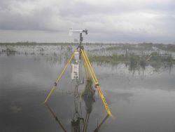 Texas Tech Stick Net P1 deployed during Hurricane Ike in 2008. Photo