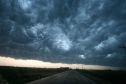 Spectacular thunderstorm and super cell clouds observed during VORTEX2. Photo
