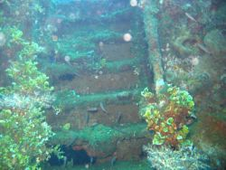 A stairway to Davy Jones' Locker on the Fujikawa Maru. Image