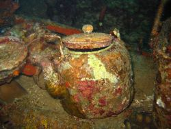 A teapot on the Fujikawa Maru. Image