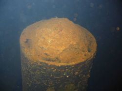 A periscope on the Heian Maru, a submarine tender. Image