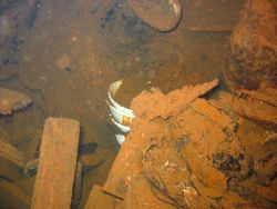 Assorted debris on the Unikai Maru. Image
