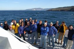 Dan Basta, head of the National Marine Sanctuaries program, leading a group of scientists, educators, and science administrators on a tour of the Chan Photo