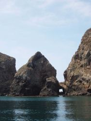 Arch and islets between the various Anacapa islands. Image