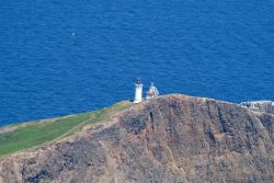 Aerial view of the lighthouse on Anacapa Island Photo