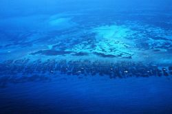 Aerial view of Florida Reef from the Gulf Stream side of the reef Image