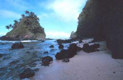 Offshore islet along American Samoa coastline Photo