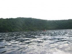 Scientists conducting studies from a RHIB in the vicinity of Fagatele Bay. Photo