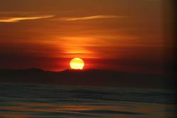Sunrise over Point Reyes as seen from Cordell Bank NMS Photo