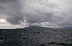 Storm clouds over Santa Cruz Island. Photo