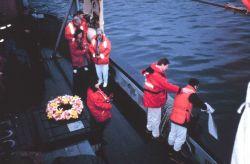 A burial at sea off the JOHN N Photo