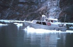 Survey launch on line in Tracy Arm Photo