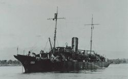 The Coast and Geodetic Survey Ship OCEANOGRAPHER at Tulagi Harbor, Guadalcanal during World War II Photo