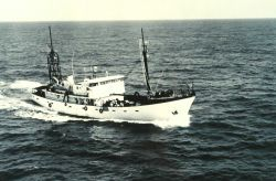 Bureau of Commercial Fisheries Ship TOWNSEND CROMWELL underway. Photo