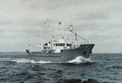 The Bureau of Commercial Fisheries Ship DELAWARE II underway. Photo