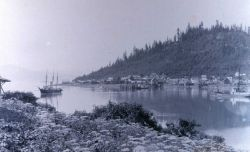 Coast and Geodetic Survey Steamer HASSLER at Fort Wrangell. Photo