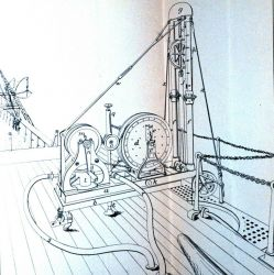 Sigbee's machine for sounding with wire, rigged for reeling in Photo