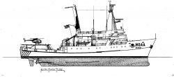 Line drawing of the DAVID STARR JORDAN by Charles R Photo