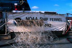 Operations on the NOAA Ship FERREL. Photo