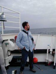 Operations on the NOAA Ship McARTHUR during Stenella abundance cruises. Photo