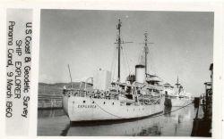 Coast and Geodetic Survey Ship EXPLORER transiting the Panama Canal. Photo
