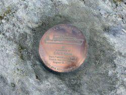 Setting the mark - Memorial to a fallen shipmate - Able Seaman Eric Koss. Photo