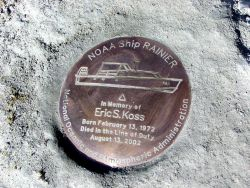 Setting the mark - Memorial to a fallen shipmate - Able Seaman Eric Koss Photo