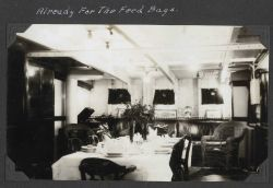 The wardroom (officer's mess) on the SURVEYOR. Photo