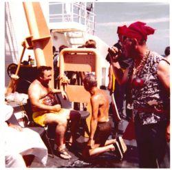 Equator crossing ceremony on the ESSA Ship DISCOVERER Photo