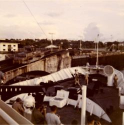NOAA Ship DISCOVERER entering the Panama Canal Photo