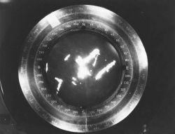 Bridge radar display circa 1955. Photo