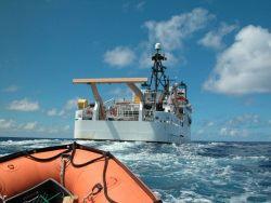 Looking to stern of NOAA Ship HI'IALAKAI from small boat Photo