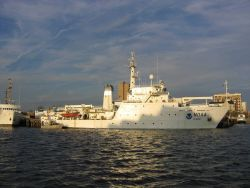NOAA Ship THOMAS JEFFERSON tied up at NOAA Atlantic Marine Center. Photo