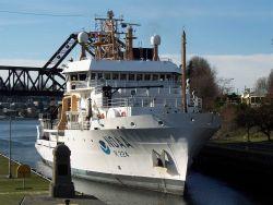 NOAA Ship OSCAR DYSON passing through the locks at Seattle. Photo