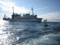 NOAA Ship FAIRWEATHER as seen from RHIB during tsunami buoy recovery efforts Photo